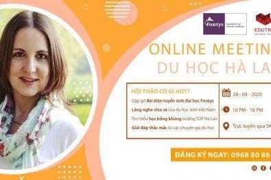Hội Thảo Online: Săn Học Bổng Du Học Hà Lan Lên Đến 5000 EURO Cùng Với Trường Đại Học Fontys University Of Applied Sciences